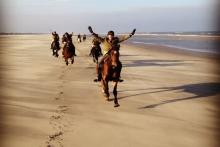 strandrit te paard
